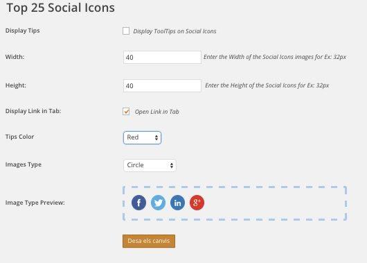 Top 25 Social Icons